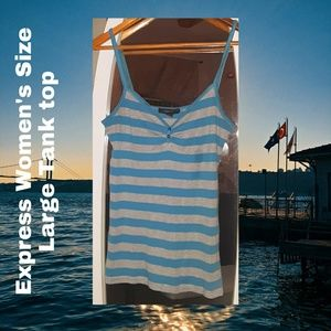 Express Tank Top | Large | Women's | Blue & Gray